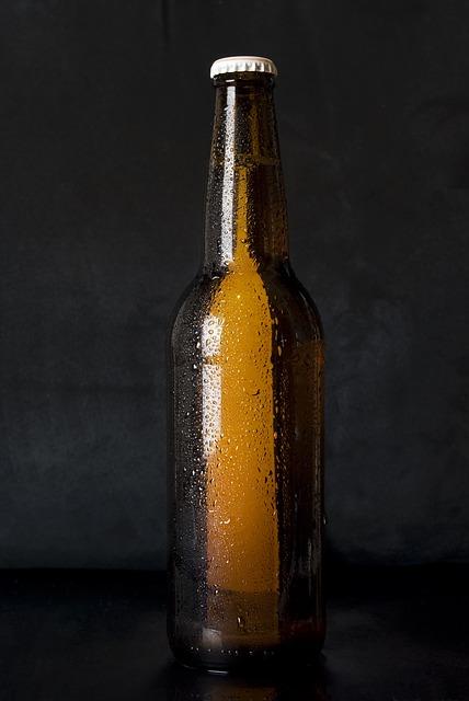 bouteille de bière marron